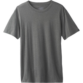 Prana Crew T-shirt Homme, charcoal heather